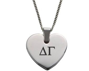 Delta Gamma Heart Pendant Necklace