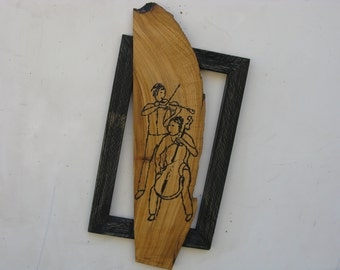 Violin and cello on the olive tree