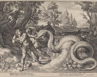 Poster, Many Sizes Available; 1600Ca. Ovid'S Metamorphoses Etching Washington Dc, Nga