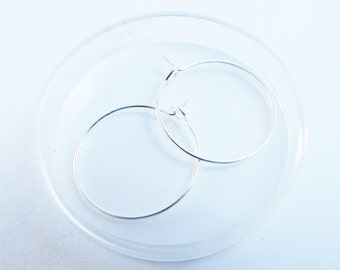 D-03123 - 4 Hoop earring setting 20mm