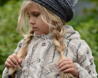 CROCHET PATTERN-The Furlynn Slouchy (Toddler, Child, and Adult sizes)