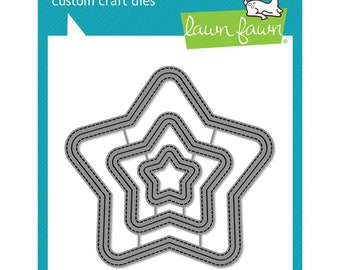 Lawn Fawn - Lawn Cuts - Outside In Stitched Star Stackables