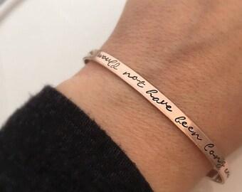 Cadeau de chagrin - Forever n'aurait pas été assez long - la perte d'un être cher one - Memorial Bracelet - sympathie