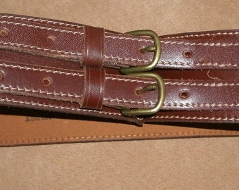 Vintage Tristan & Isuet Wide Leather Belt
