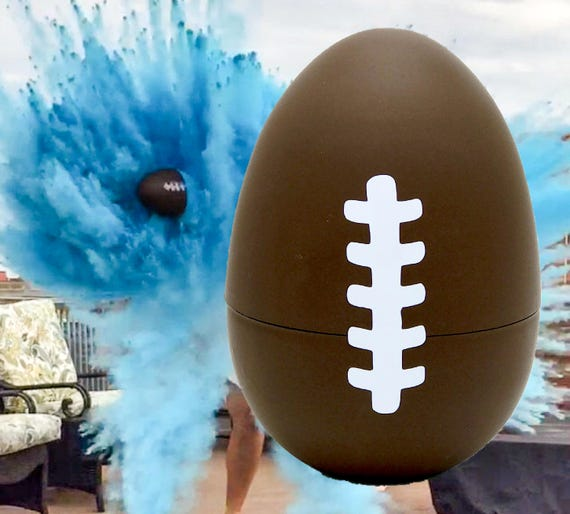 """6"""" FOOTBALLS Gender Reveal Football with 8x Powder!!!! Ships Same Day!"""