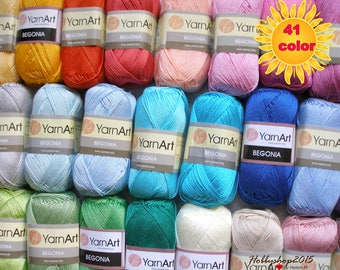 100 %  Mercerized cotton  yarn  crochet yarn Yarnart begonia amigurumi quality  perfect yarn knitting toys clothes eco yarn wholesale