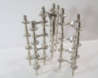 Nagel Top X 111, stackable modular candle holders 1/12, RARE VASE, - mid century modern, mcm