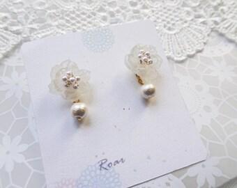Flower Shrink Plastic Earrings