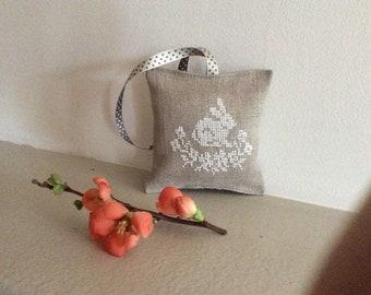 home decor, hand stitch Embroidery, 10 cm x 10 cm