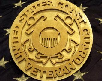 United States Coast Guard Veteran Plaque