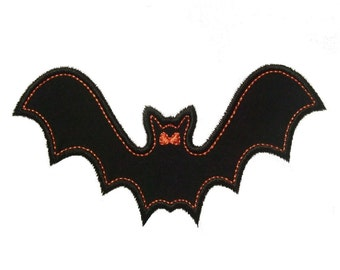 """Halloween Bat Appliques Machine Embroidery Designs Applique Pattern in 4 sizes 4"""", 5"""", 6"""" and 7"""""""