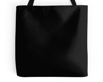 Basic Black Tote Bag, Black Bag, Basic Black Purse, Black Tote Bag, Basic Black Bag, Black Book Bag, Solid Black Tote, Solid Black Purse