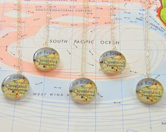 Map Pendant Sterling Silver