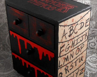 Stranger Things Red and Black Stash Jewelry Box