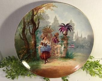 European Pocelain hand painted platter