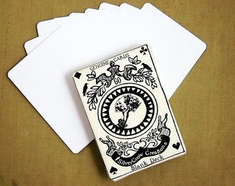 Pack of 60 Rounded Corner Blank Playing Cards or Artist Trading Cards (S-001)