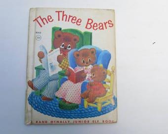 The Three Bears Vintage Junior Elf Book, 1952, The Three Bears and Goldilocks vintage child's book