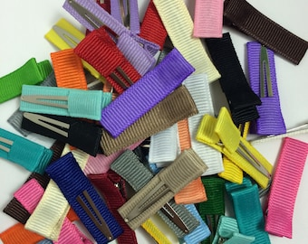 10 Solid Mini Lined Alligator Clips, 35mm Single Prong, Mini No Slip Clips, Mini Alligator Clips, Mini Hair Clips, Mini Lined Clips