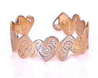 Rose gold heart cuff bracelet, Rose Gold, Rose gold bracelet, rose gold bangle, heart bracelet, rose gold heart jewelry