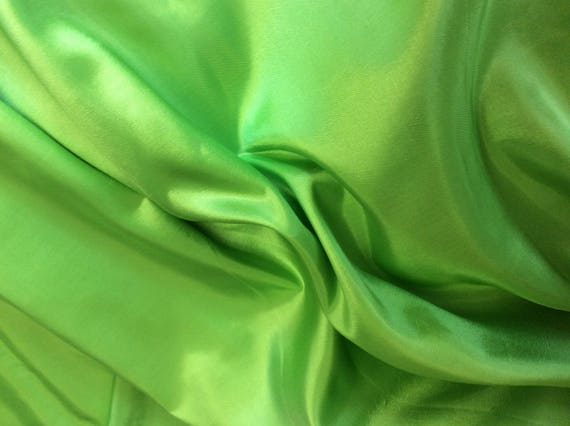 High quality taffetas fabric, apple green