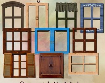 Commercial use digital scrapbooking windows
