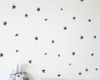 stars in dark grey  wall decals
