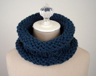 Knitting Pattern / Chunky Textured Cowl Mariner / PDF DIGITAL DELIVERY