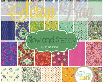 Slow and Steady - Scrap Bag Quilt Fabric Strips by Tula Pink for Free Spirit