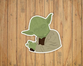 Yoda (Star Wars) Vector Illustration Decal/Sticker/Magnet