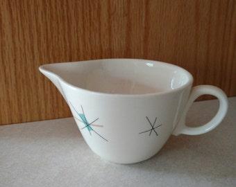 Vtg Salem China North Star Atomic Mod Mid Century Coffee Creamer PERFECT