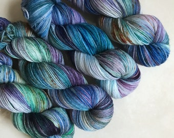 Splash Pad Party Exclusive Sheepy Sock 'Blue Lagoon' Hand Dyed Yarn