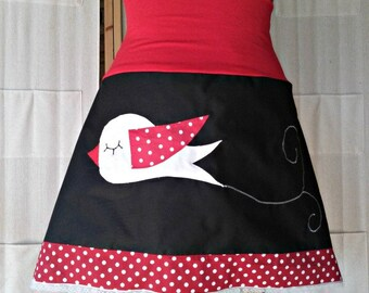 Skirt bird red and black