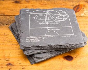 Canadiens Greatest Plays - Slate Coasters (Set of 4)