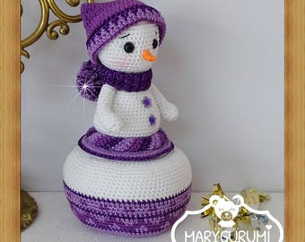 Box snowman, plush crochet, Amigurumi, (large model)