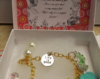 Whimsical Plus Size Charm Bracelet
