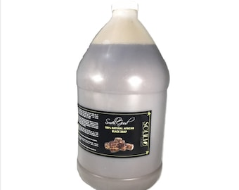 SmellGood - 1 Gallon Liquid African Black Soap, Pack of 4
