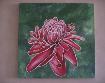 Free shipping! Pink porcelain painting