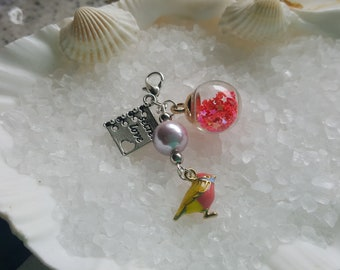 bird charm for bracelet or zipper pull