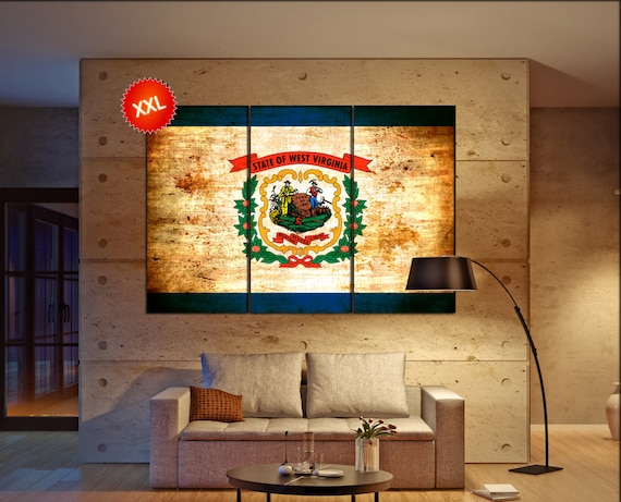 west virginia state flag  canvas west virginia state flag wall decoration west virginia state flag canvas art large canvas