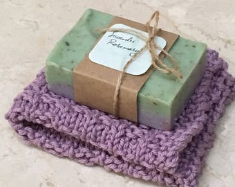 Hand Knitted Washcloth