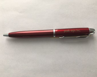Personalised Ballpoint pen, engraved with your name or logo (Black Ink)