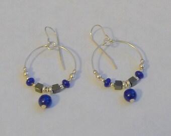 Lapis Lazuli Hoop Earrings