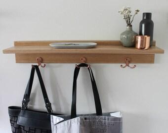Entryway Organiser - Key Holder - Floating Shelf - Key Hooks - Entryway Shelf - Wall Coat Rack - Key Holder for Wall - Coat Rack -