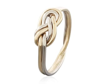 Solid Gold Climbing Knot Ring - Promise Ring for Her - Infinity Ring - Eternity Ring - Engagement Ring - Dainty Ring - Celtic Knot Ring