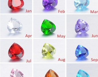 120Pcs - 10Pcs of Each 12 Colors, 5mm Birthstones, Floating Locket Birthstones, Floating Birthstones, Memory Locket Charm