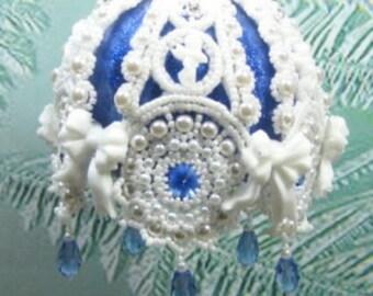 Beaded Christmas ornament kit - Cutwork Lace