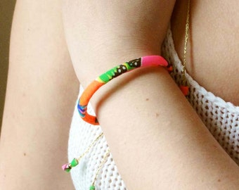 Neon Fabric Bracelet, Key West Collection - Limited Edition