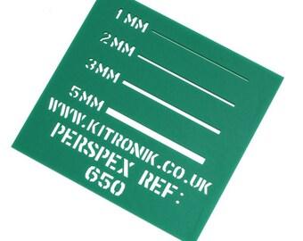 Green Perspex Sheet (Opaque) 3mm x 297mm x 210mm High Gloss Perspex Sheet A4