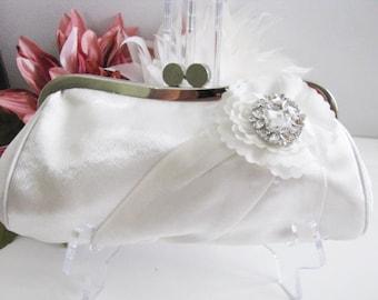 bridal, clutches, Weddings, bridesmaid, Wedding clutch, Bridesmaid purse, clutch, wedding purse, Bags and purses, White Clutch
