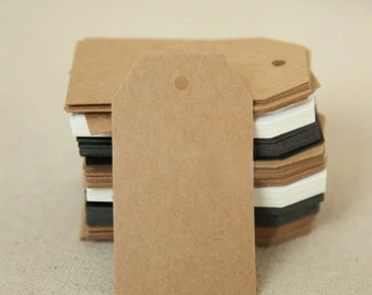 Kraft Paper Tags - 50pcs Kraft Tags Price Tags Hang Tags Gift Tags Brown Tag Plain Tags Clothing Tag with Hole 7cm x 4cm